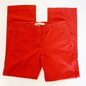 J Crew   City Fit broken in chino pants 10 red
